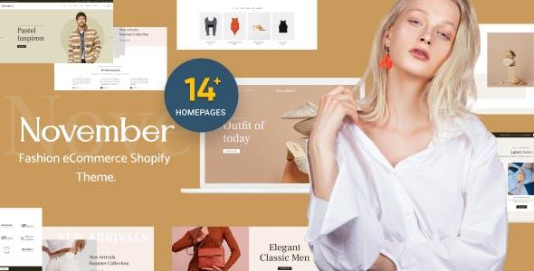 November - Multipurpose Sections Shopify Theme