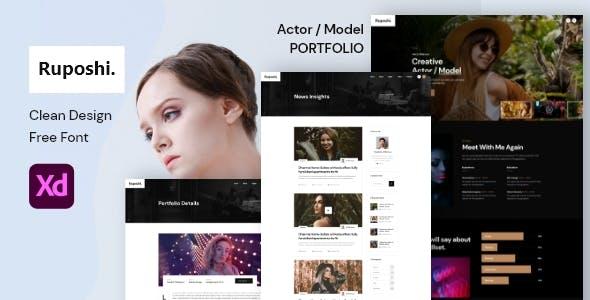 Ruposhi - Actor, Model Portfolio XD Template