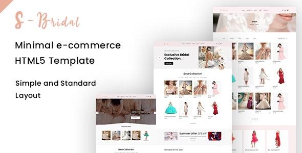 sBridal - Minimal E-commerce Html Template - Retail Site Templates