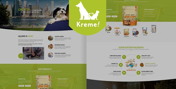 Kreme - Pet & Shop eCommerce WordPress Theme - WooCommerce eCommerce