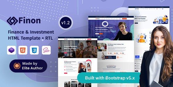 Finon - Finance & Investment Company HTML Template