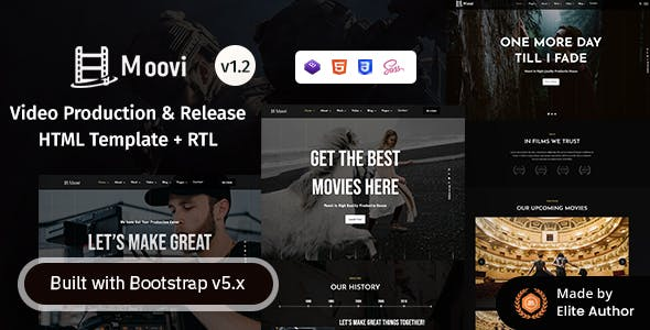 Moovi - Video Production & Release HTML Template