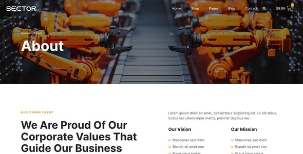 Sector – Factory Industry & Trading Company Elementor Template Kit