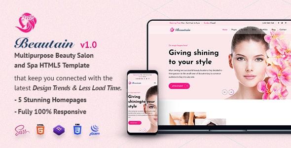 Beautain | Multipurpose Beauty Salon and Spa HTML5 Template - Health & Beauty Retail