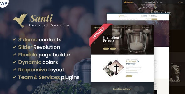 Santi -  Funeral Home WordPress Theme - Business Corporate