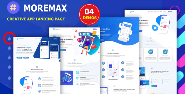 Mormax - App Landing Page - Technology Site Templates