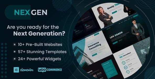 Nexgen - Consulting & Logistics WordPress Theme - Business Corporate