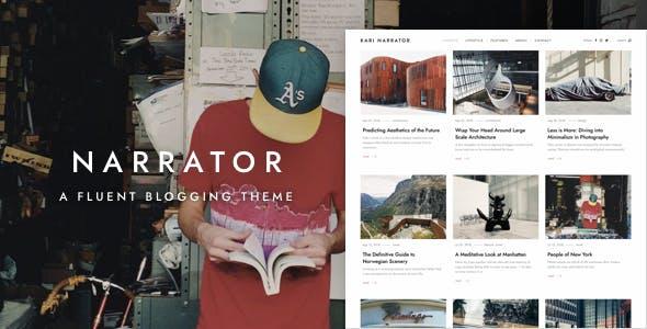 Narrator — A Fluent WordPress Blogging Theme
