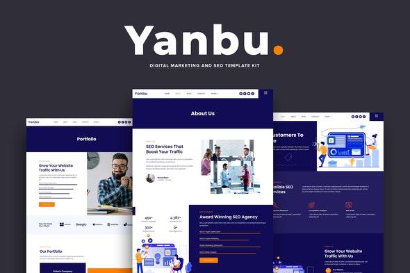 Yanbu - Digital Marketing & SEO Elementor Template Kit - Business & Services Elementor