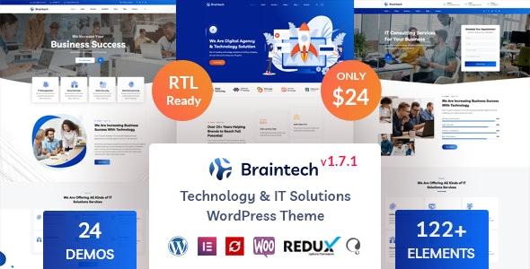 Braintech - Technology & IT Solutions WordPress Theme - Technology WordPress
