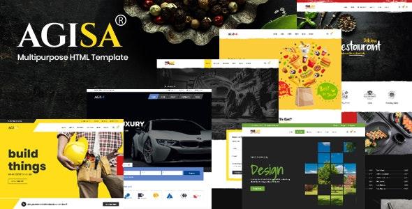 Agisa - Mutilpurpose HTML Template - Business Corporate