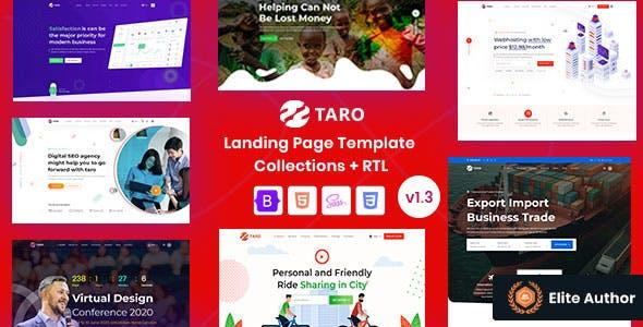 Taro | Multi-Purpose Responsive Website Templates