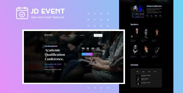 JD Event - Responsive Conference Website Joomla Template - Joomla CMS Themes
