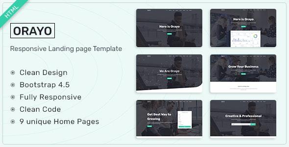 Orayo v1.0 – Responsive Landing Page Template