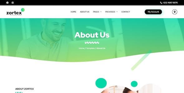 Zortex - Broadband & Internet Services Elementor Template Kit