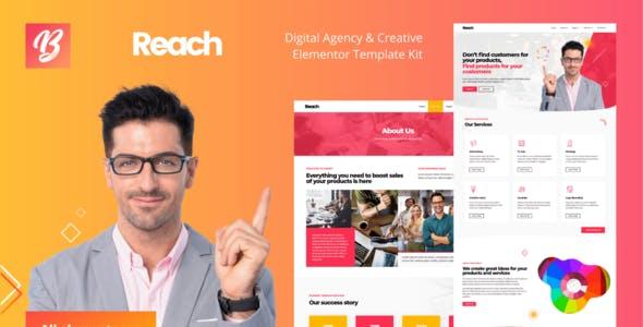 Reach - Digital Agency & Creative Elementor Template Kit