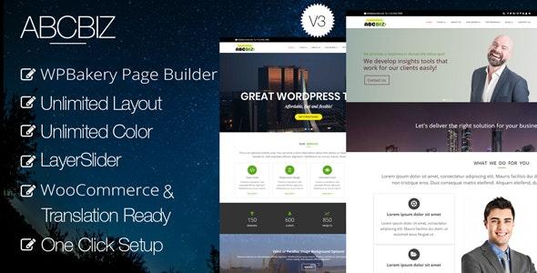 Abcbiz - Responsive WordPress Theme for Business - Business Corporate