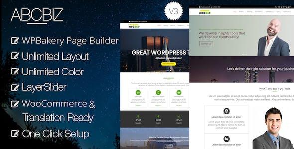 Abcbiz - Responsive WordPress Theme for Business