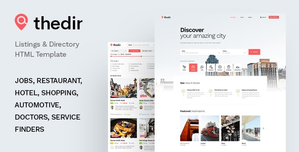 TheDir – Listing & Directory HTML Template - Business Corporate