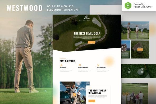 Westwood – Golf Club & Course Elementor Template Kit - Sport & Fitness Elementor