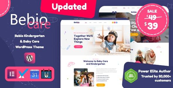 Bebio - Kindergarten & Baby Care WordPress Theme