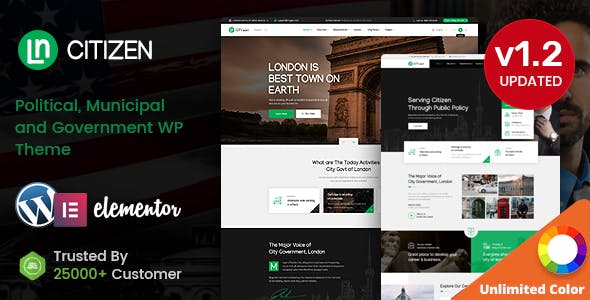 CityZen - Municipal and Government WordPress Theme + RTL