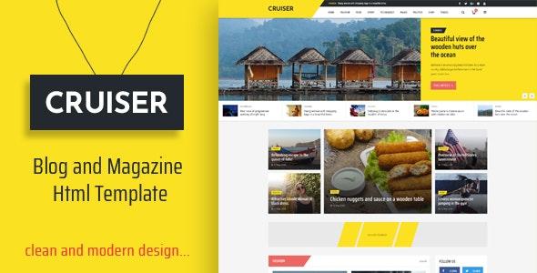 Cruiser - Blog and Magazine HTML Template - Creative Site Templates