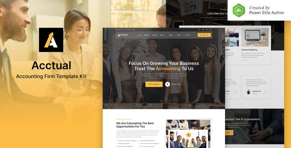Acctual – Accounting Firm Elementor Template Kit