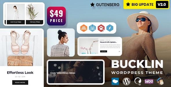 Bucklin - Creative Personal Blog WordPress Theme - Personal Blog / Magazine