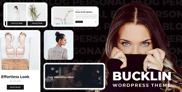 Bucklin - Creative Personal Blog WordPress Theme