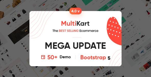 Multikart - eCommerce HTML + Admin + Email  + Invoice Template - Shopping Retail