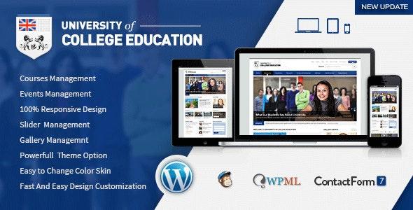 University | Education Responsive WordPress Theme - Education WordPress