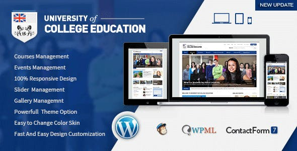 University | Education Responsive WordPress Theme