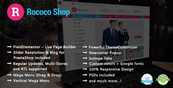 Rococo - Shopping & Accessories Responsive PrestaShop 1.7 & 1.6 Theme