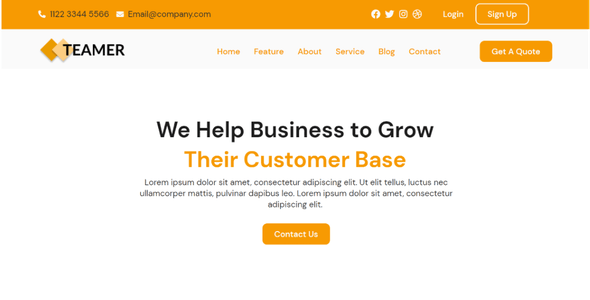 Teamer - SEO  Marketing Elementor Template Kit