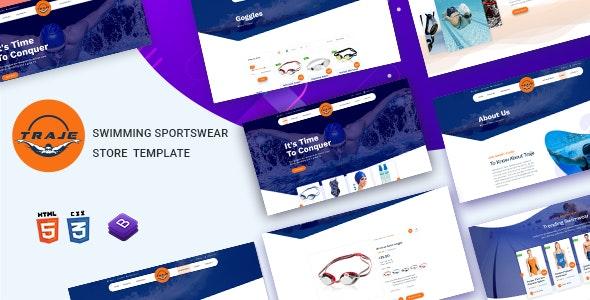 Traje - Swimming Sportswear Store HTML Template - Retail Site Templates