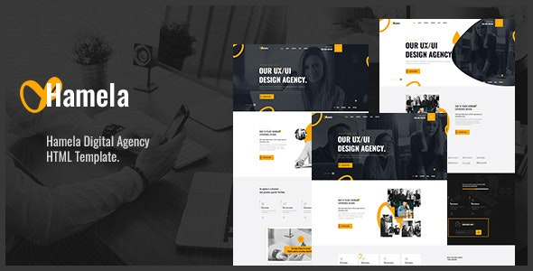 Hamela - Digital Agency Services HTML Template - Business Corporate