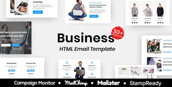 Business - Multipurpose Responsive Email Template 30+ Modules Mailchimp