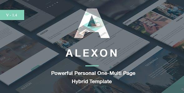 Alexon - Personal One-Multi Page Hybrid Template