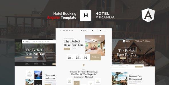 Miranda - Hotel Angular Template