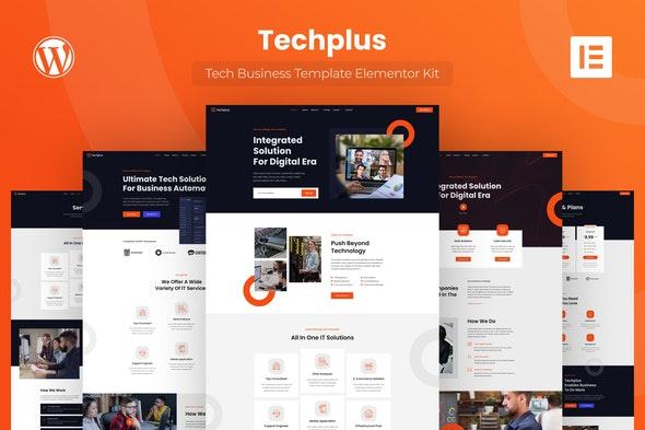 Techplus - Tech Business Elementor Template Kit - Business & Services Elementor