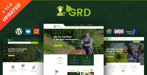 GRD - Gardening and Landscaping WordPress Theme - Business Corporate