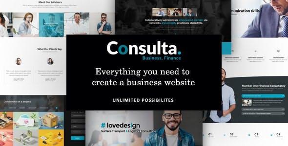 Consulta - Professional Business, Financial Drupal 9 Theme