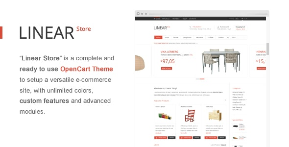 Linear Store – Premium OpenCart Theme - OpenCart eCommerce