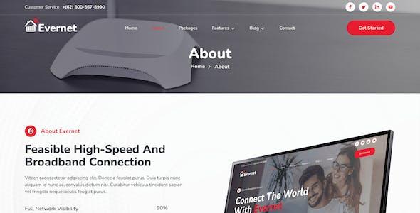 Evernet – Broadband & Internet Service Provider Elementor Template Kit