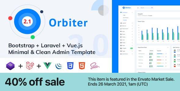Orbiter - Bootstrap + Laravel + Vue Minimal & Clean Admin Template