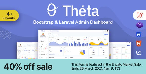 Theta - Bootstrap + Laravel Admin Dashboard Template