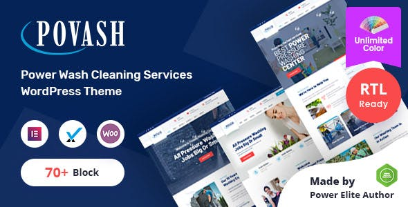 Povash | Power Wash  WordPress Theme + RTL