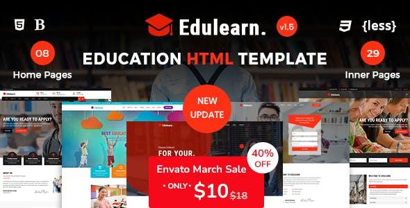 Edulearn - Education HTML Template