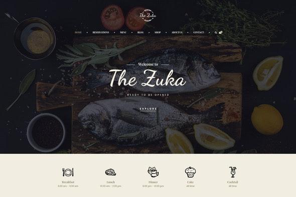 Zukares – Restaurant & Cafe Food  Elementor Template Kit - Food & Drink Elementor